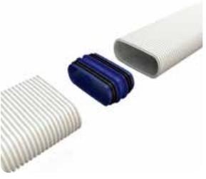 Renson ovaal verbindingsstuk met rubbers
