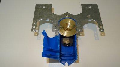 Inbouwdoos / muurplaat enkel (blauw) 1/2 - 16 alu-pex